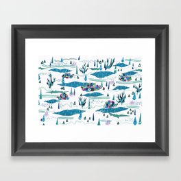 tundra-confined exiles in a rollicking game of hide and seek Framed Art Print