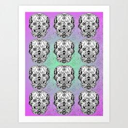 Pink Ink Art Print