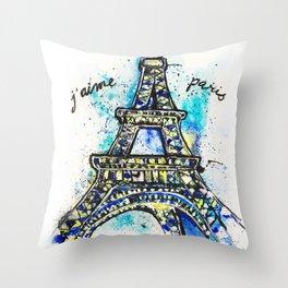 I Love Paris Throw Pillow