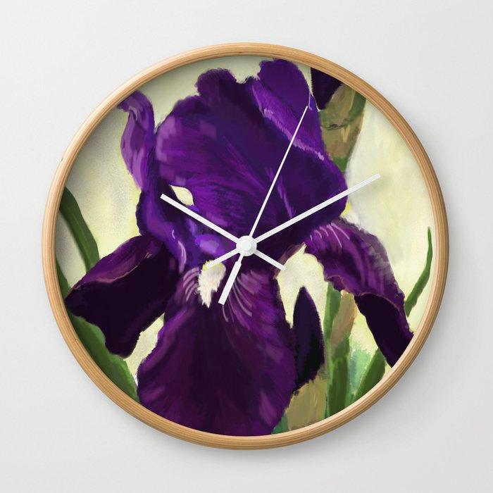 Purple Iris DP150530 Wall Clock