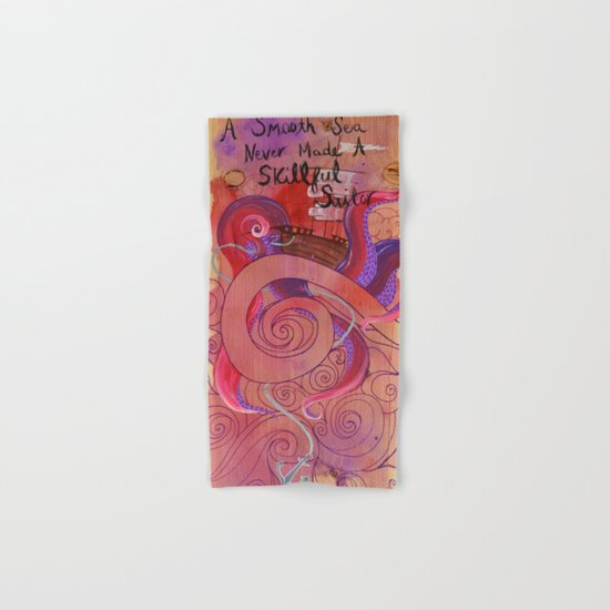 Rough Waters (Pink/Purple) Hand & Bath Towel