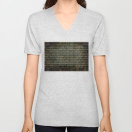The Binary Code - Dark Grunge version Unisex V-Neck