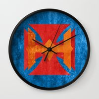 he man Wall Clocks featuring He-Man by Some_Designs