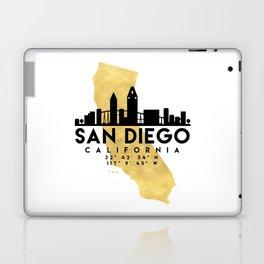 SAN DIEGO CALIFORNIA SILHOUETTE SKYLINE MAP ART Laptop & iPad Skin