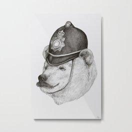 Bearly Legal Metal Print