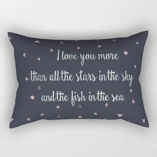 Love and the stars Rectangular Pillow