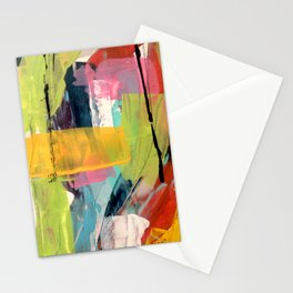 Hopeful[2] - a bright mixed media abstract piece Stationery Cards