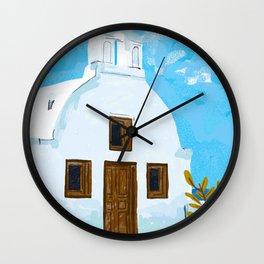 When in Greece Wall Clock