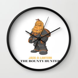 JACK-O-LANTERN The Bounty Hunter Wall Clock