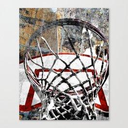 Basketball art swoosh vs 24 Canvas Print