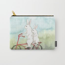 Bunnies on a Bicycle Carry-All Pouch