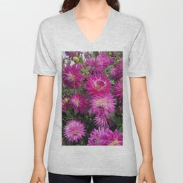 Pretty in Pink Dahlia 2 Unisex V-Neck