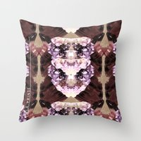 minerals Throw Pillows featuring Mira Minerals by lalaprints