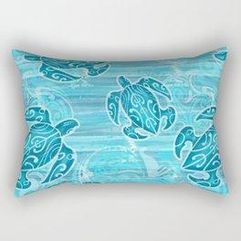 Hawaiian Tribal Honu's Rectangular Pillow