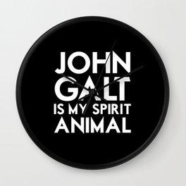 John Galt is my Spirit Animal Wall Clock