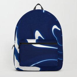 Dark Blue Abstraction Backpack