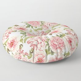 old fashioned peonies Floor Pillow
