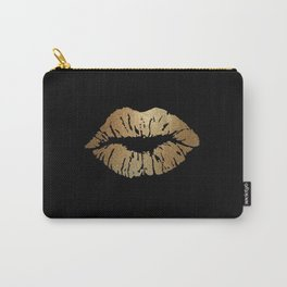 Gold Lips Blackout Carry-All Pouch