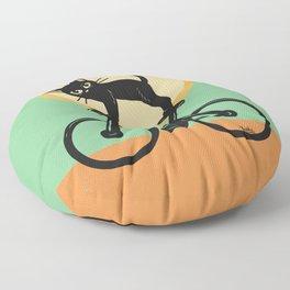 Cat loves a bike Floor Pillow
