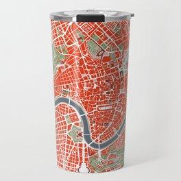 Rome city map classic Travel Mug