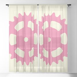 Cog and Roll (pastel) Sheer Curtain