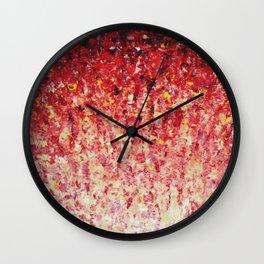 HYPNOTIC SUNRISE - Stunning Sunrise Sunset Pink Magenta Peach Crimson Bright Red Cream Wall Clock