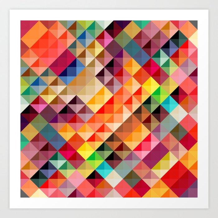 Abstract Triangle Art Print by giselesebata   Society6 - photo #34