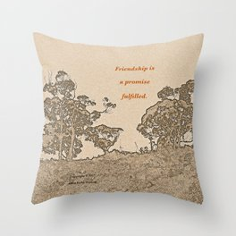 """""""Catalina Trees #2"""" with poem: Simple Friendship Throw Pillow"""