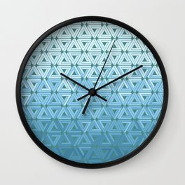 Glacial Air Geometric Wall Clock