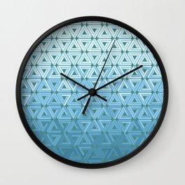 Glacial Air Geometric Wall Clock