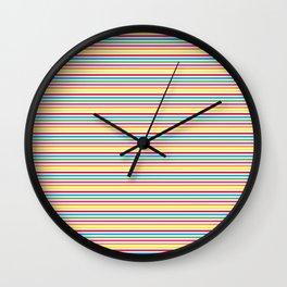 Colourful Pinstripes Wall Clock