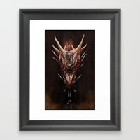 Smaug And The Thief Framed Art Print