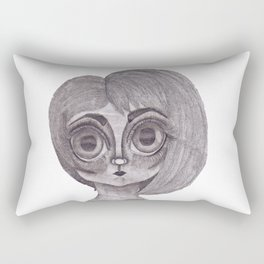Big Eyed Girl Rectangular Pillow