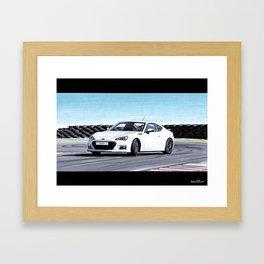 TOYOTA GT86 AUTOMOBILE DRIFTING ON SUNNY TRACK Framed Art Print