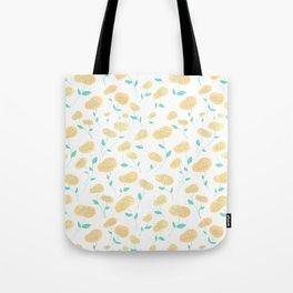 Peachy Florals Tote Bag
