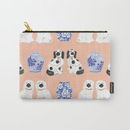 Staffordshire Dogs + Ginger Jars No. 5 Carry-All Pouch