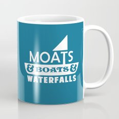 Moats and Boats and Waterfalls Graphic in Blue Mug