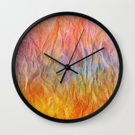 Crumpled Paper Textures Colorful P 67 Wall Clock