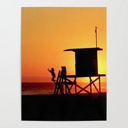 Modern End of Summer Fun In Newport Beach CA Poster