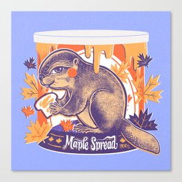 Beaver in a can Canvas Print