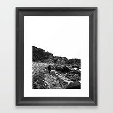 Standing on the coast Framed Art Print
