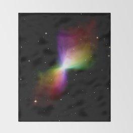 rainboW Space Boomerang Nebula Throw Blanket