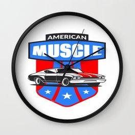 American Muscle Car Wall Clock