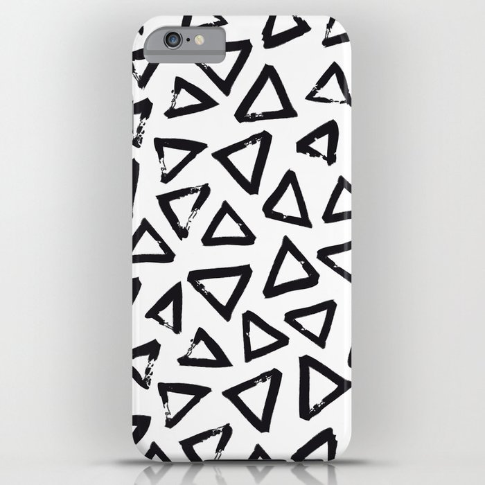 Black Brushstroke Triangel Pattern Scandinavian Design Iphone Case