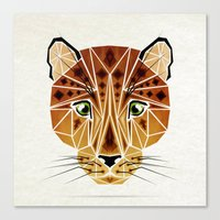 leopard Canvas Prints featuring leopard by Manoou