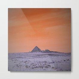 Purple pyramid in Nevada? Metal Print