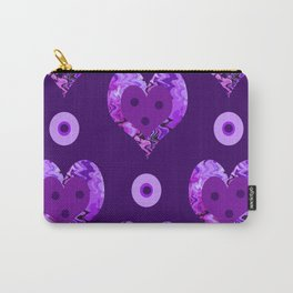 Violet heart buttons Carry-All Pouch