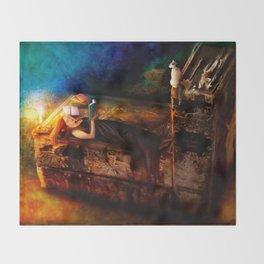 Ex Libris - A Book Lover's Dream Throw Blanket