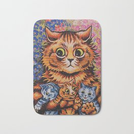 Cat and Her Kittens-Louis Wain Cats Bath Mat