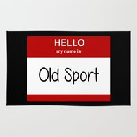 sport Area & Throw Rugs featuring Old Sport by discojellyfish
